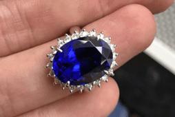 кольцо с танзанитом
